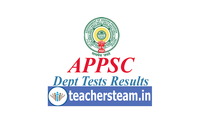 appsc dept test results