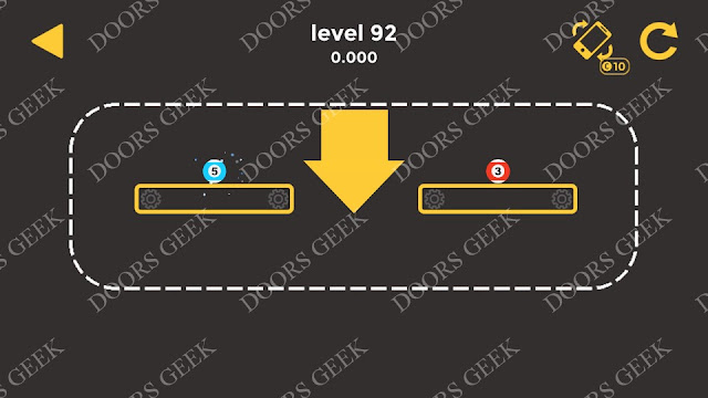 Ball & Ball Level 92 Solution, Walkthrough, Cheats for android and ios