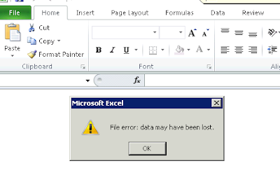 File error: data may have been lost | Microsoft Dynamics AX Blog