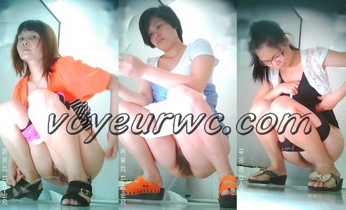 ChinaVoyeur B414-439 (Girls peeing in the common toilet voyeur spy cam videos)