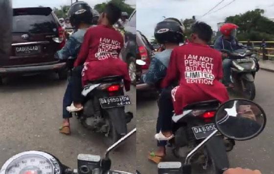 Video Cowok Manja Pakai Highheels Bawa Motor di Jalan Raya Ini Bikin Ngakak dan Jadi Viral