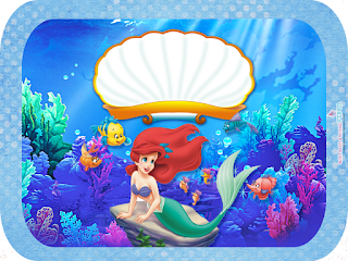 The Little Mermaid Birthday: Free Printable Candy Bar Labels.