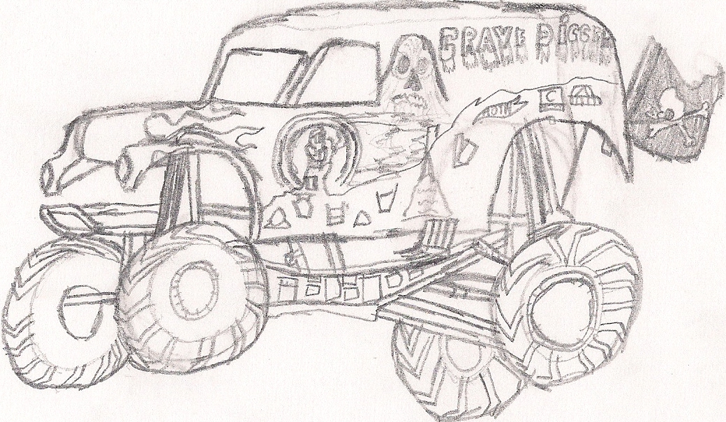 Grave Digger - Free Coloring Pages
