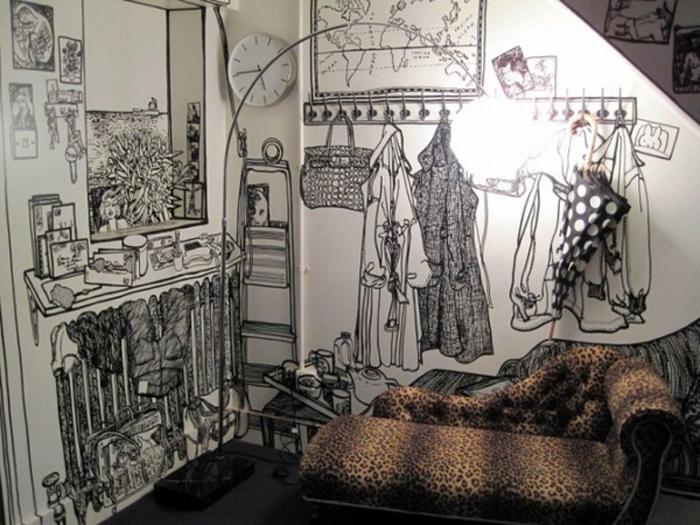 Mucho Arte En Las Paredes A Golpe De Rotulador Decorar Tu Casa Es