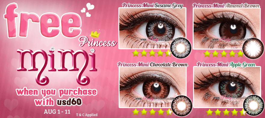 Free Princess Mimi Circle Lenses When Purchase With USD60