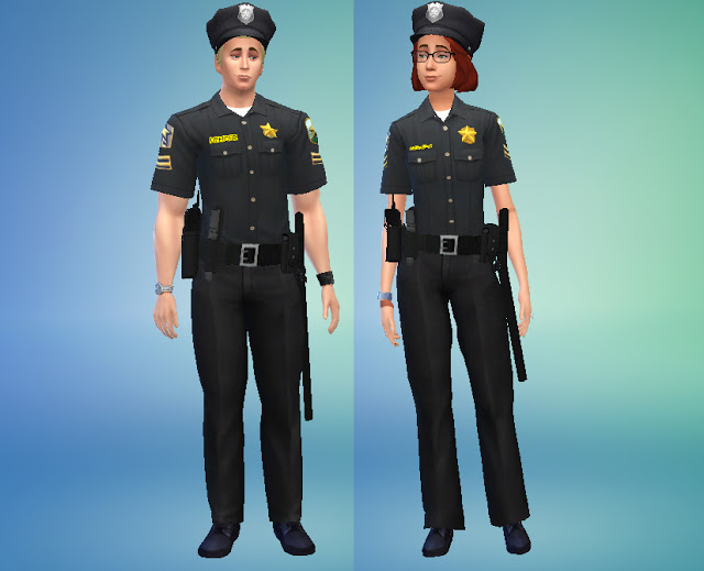 Sims 4 cc's   the best: standar police uniform by cepzid sims