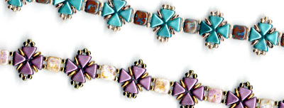 Congratulations to Chris who persevered and completed the Criss-Cross bracelet beading pattern.