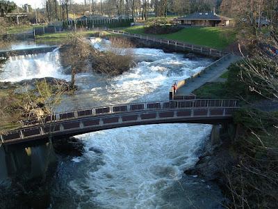 Deschutes River at Tumwater Falls Park.