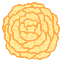 お花紙のイラスト(黄色)