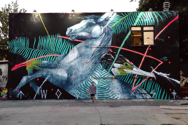 TWOONE is the latest artist to be invited by the good lads from Urban Spree to create a new piece on the streets of Berlin.
