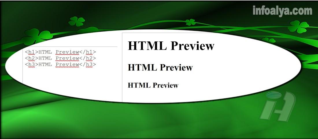 HTML Preview Di Blog