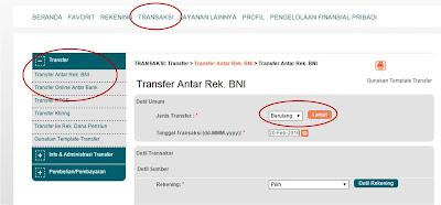 Cara Transfer Berulang di Internet Banking BNI