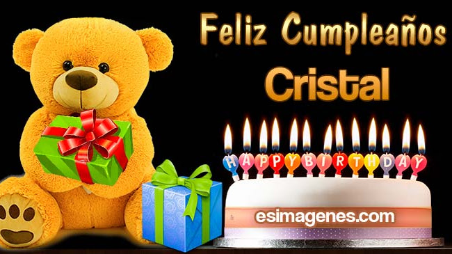 Feliz Cumpleaños Cristal
