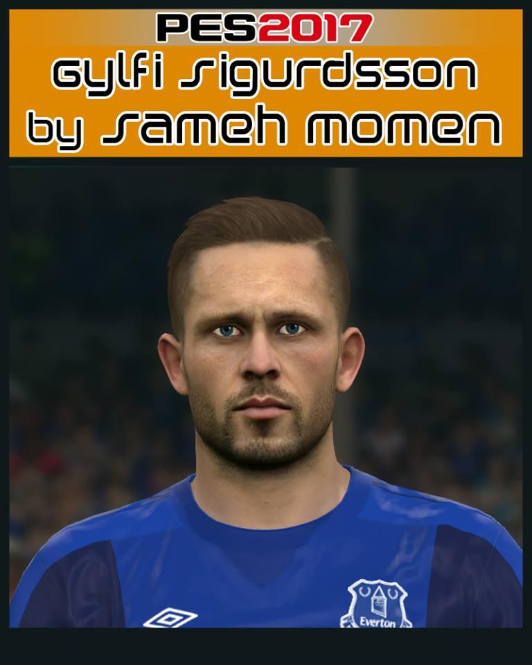 Pes 2017 L Moura Face By Sameh Momen: Ultigamerz: PES 2017 Sigurdsson (Everton) Face