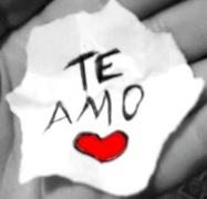 Imagen de un Te amo junto a un corazón