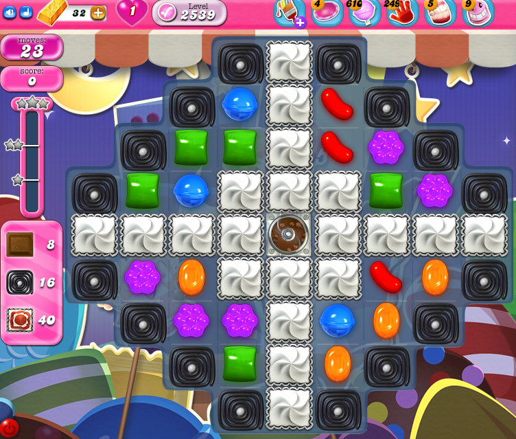 Candy Crush Saga level 2539