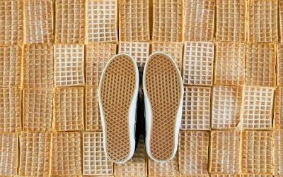 kode waffle vans shoes