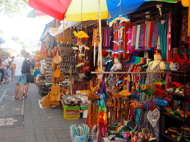 Art market in Ubud, Bali, Indonesia