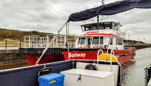 Photo of Solway Challenger heading for the marina slipway