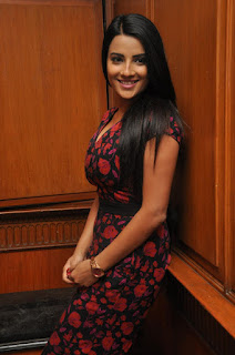 Actress Jyoti Seth Pictures in Floral Dress at Bhadram Be Careful Brother Music Launch  0014