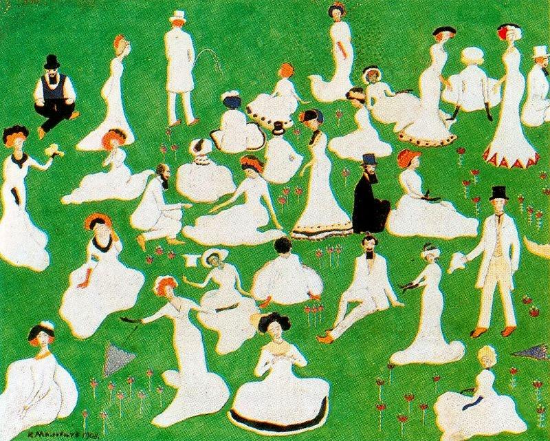 Desvio da Alta Sociedade - Kasimir Malevich e suas pinturas com elementos geométricos abstratos