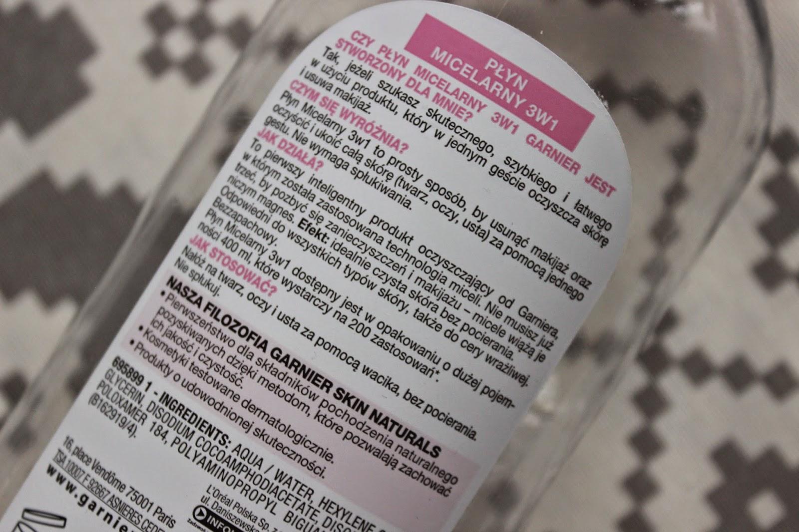 garnier różowy płyn micelarny do skóry wrażliwej opinia recenzja skóra trądzikowa 3