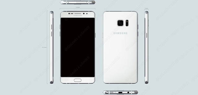 2016 Samsung Galaxy Note 6 leaked blueprints