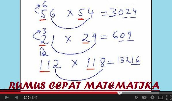 gambar kumpulan rumus cepat berguru matematika