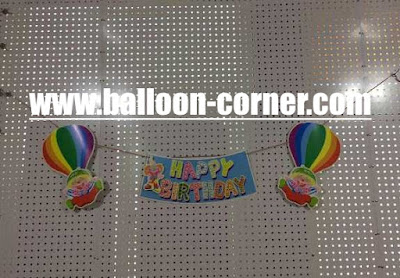Bunting Banner Happy Birthday Balon Udara
