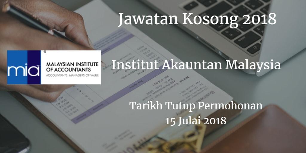 Jawatan Kosong MIA 15 Julai 2018