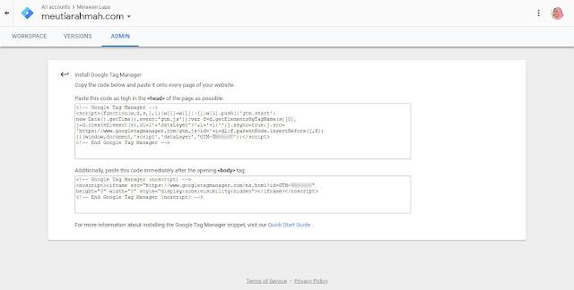 Cara Memasang Google Tag Manager di Blogger