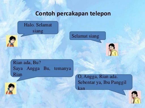 8 Contoh Percakapan Dua Orang Di Telepon Materi Belajar