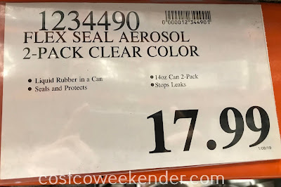 Deal for 2 cans of Flex Seal Liquid Rubber Sealant Coating at Costco