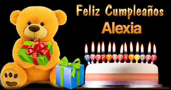 Feliz Cumpleaños Alexia