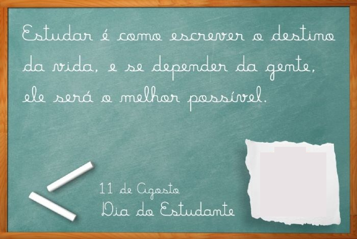 Cartões Para O Dia Do Estudante