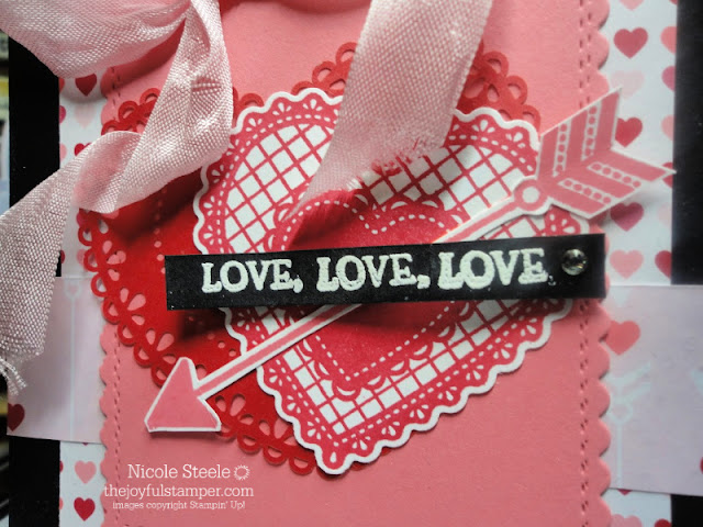 Valentine's Day Love card using Stampin' Up!'s Heartfelt set and From My Heart suite