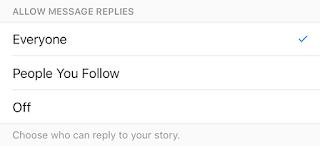 Instagram Stories Message Replies