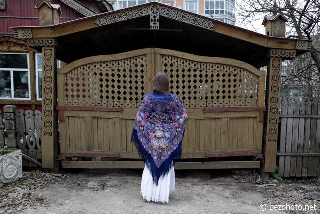 павлопосадский платок медовый полдень