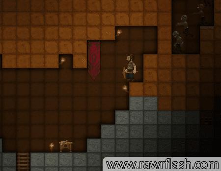 Jogos de sobrevivência, zumbi, estilo minecraft 2D e terraria: Orion Sandbox