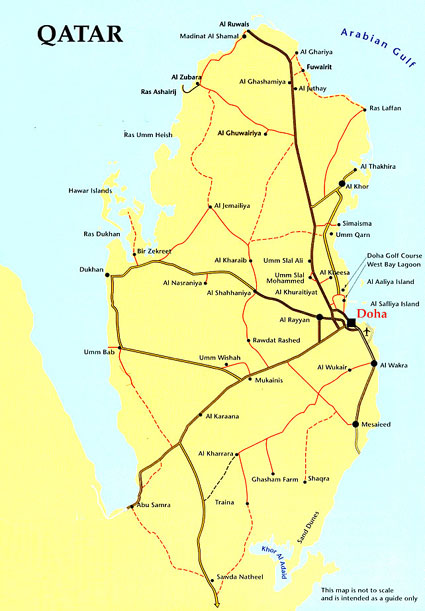 Catar ou Qatar | Mapas Geográficos do Catar