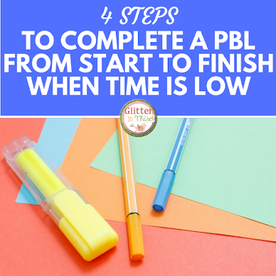 Not sure how to incorporate a PBL into your day with limited time? These four ideas will make project-based learning activities a breeze in your elementary classroom!