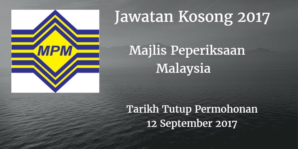 Jawatan Kosong MPM 12 September 2017