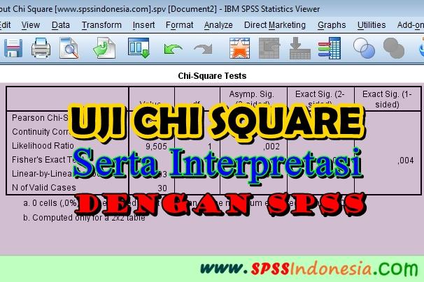 Uji Chi Square dengan SPSS Serta Interpretasi Lengkap