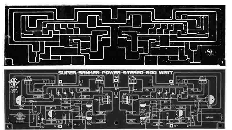 Power Amplifier 400W Audio Circuit 2SC2922 2SA1216 - Electronic Circuit
