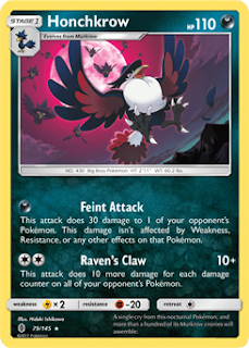 Honchkrow Guardians Rising Pokemon Card