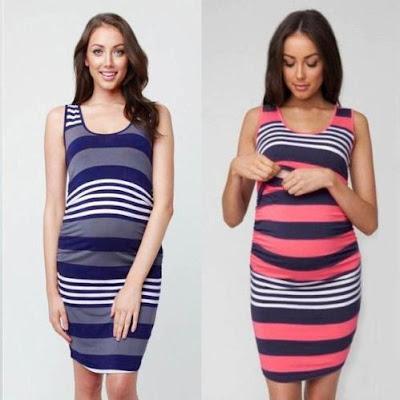 Striped Nursing Dress