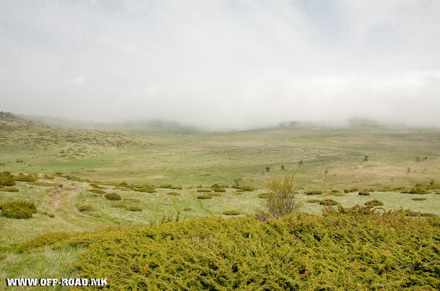 View toward Dobro Pole from Macedonian/Greek Border. The field is in Greek teritory.