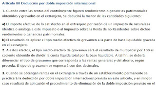 Regulación doble imposición Internacional