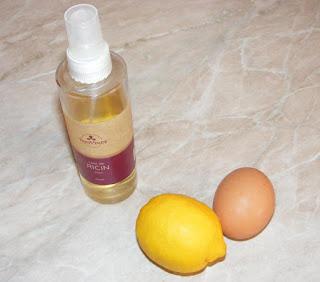 ingrediente pentru masca de fata si par, retete cu ulei de ricin, retete cu ou si lamaie,