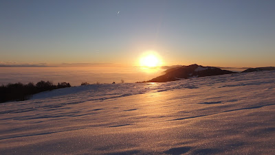 Röti, Sonnenuntergang und Nebelmeer